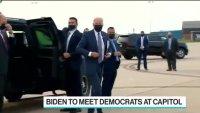 Байдън разговаря с демократите в Капитолия преди пътуването в Европа
