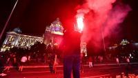 Нови сблъсъци при протестите в Белград